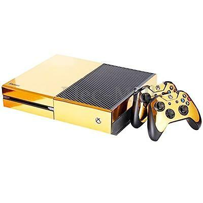 $7.49 • Buy Xbox One S Console Skin Decal Sticker Gold Glossy + 2 Controller Skins Set USA
