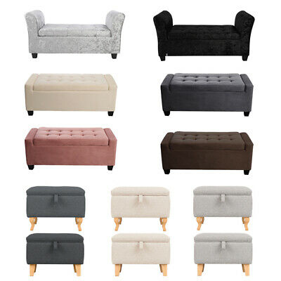 Large Footstool Storage Box Unit Bench Chair Ottoman Pouffe Seat Foot Rest Stool • 115.95£