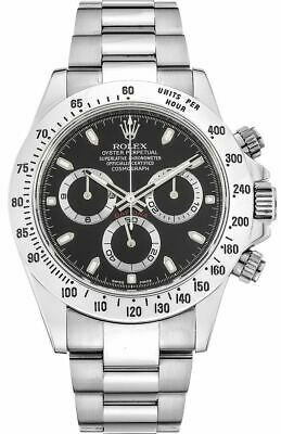 $ CDN25416.76 • Buy Rolex - Daytona - Stainless Steel - Black Dial - 116520 - 40mm