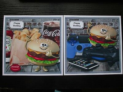 £1.50 • Buy  2 X Chips Burger & Coke /Game Console (NEW SIZE) Male /Boy  Toppers