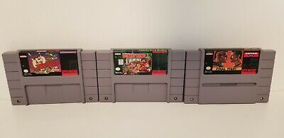 $ CDN35 • Buy Snes Donkey Kong Country,final Fight,taz-mania 3 Game Lot