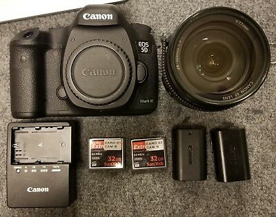 $ CDN2394 • Buy Used Canon EOS 5D Mark III 22.3MP DSLR (with EF L IS USM 24-105) Kit