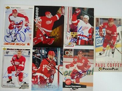 $ CDN7.76 • Buy Detroit Red Wings Greats Auto Lot Yzerman Federov Lidstrom Osgood Modano Signed