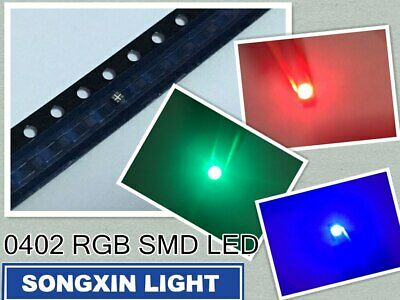 $13.99 • Buy 500PC/Lot SMD 0402 RGB Full Color 0404 Red/Green/Blue Common Anode Led