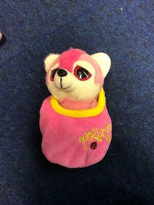 Podlings Flying Pink Fox Like TY Beanie Plush Teddy Good Condition • 2£