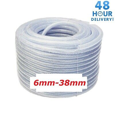 £2.40 • Buy PVC HOSE Pipe Clear Flexible Reinforced Braided Food/Oil Grade WATER Tube 6-38mm