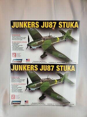 $0.99 • Buy (2) WWII German Junkers JU87 STUKA Dive Bomber Plane Model Kit 1:48 70508
