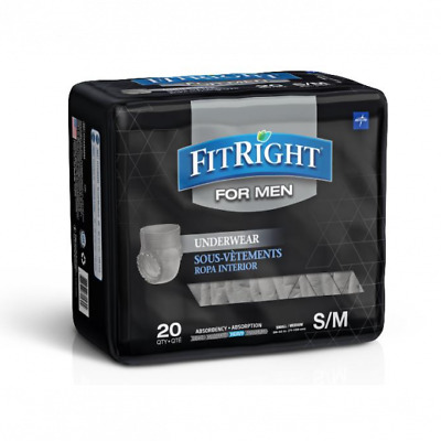 $15.99 • Buy FitRight Disposable Underwear For Men S/M