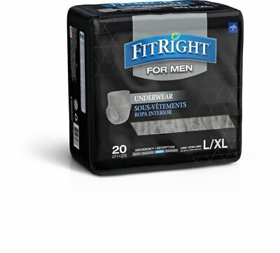 $15.99 • Buy FitRight Disposable Underwear For Men L/XL