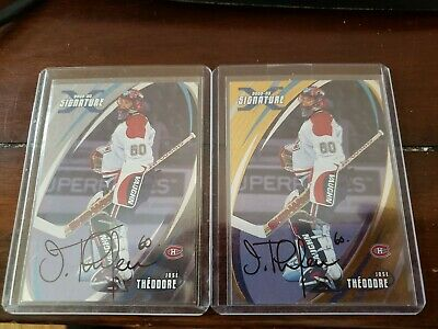 $ CDN4.99 • Buy 2002-03 BAP ITGU SIGNATURE JOSE THEODORE AUTO #065 MONTREAL CANADIENS 2 Card Lot