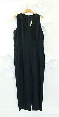 $46.10 • Buy Madewell Tuxedo Jumpsuit Romper Pants Women's 12 Black Blue Pockets NWT