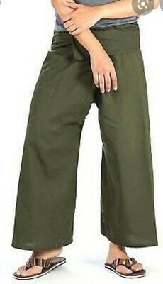 AU25 • Buy BNWT THAI FISHERMAN TROUSERS Yoga Meditation Bohemian PANTS Free Size UNISEX