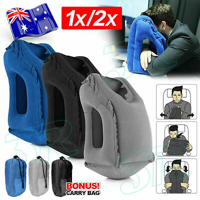 AU15.95 • Buy 2x Inflatable Air Travel Pillow Cushion Neck Flight Comfortable Support Nap