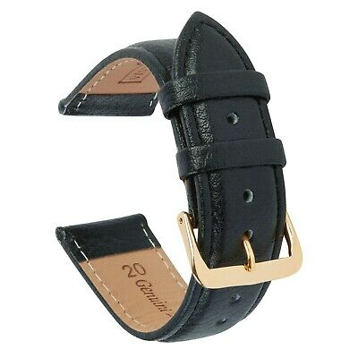 AU16.97 • Buy VintageTime Watch Straps - Buffalo Grain Padded Leather Replacement Watch Bands