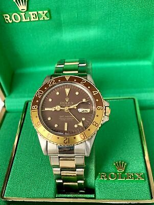 $ CDN22737.39 • Buy Rolex GMT-Master 1675  ROOT BEER  NIPPEL BROWN MATTE DIAL(RARE)Small Gmt, 1960s