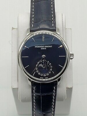 $751 • Buy Frederique Constant Slimline Moonphase Blue Dial Men's Automatic Watch FC705N4S6