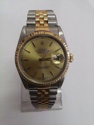 AU6749 • Buy Rolex Datejust Two-tone Men's Watch Authentic Guaranteed$6,750