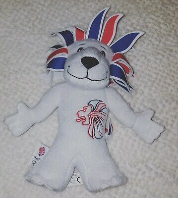 Pride The Lion Official 2012 London Olympics Team GB Mascot Plush Toy • 6.99£