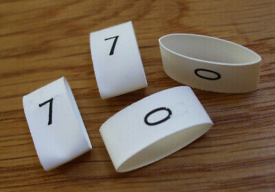 Cable Markers, Heat Shrink, LARGE SIZE, Loose, Choose Digit '0' To '9'  HSMlarge • 14.10£