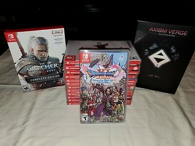 $231.50 • Buy Huge 15 Games Nintendo Switch Lot Dragon Quest XI Witcher Axiom Verge All CIB