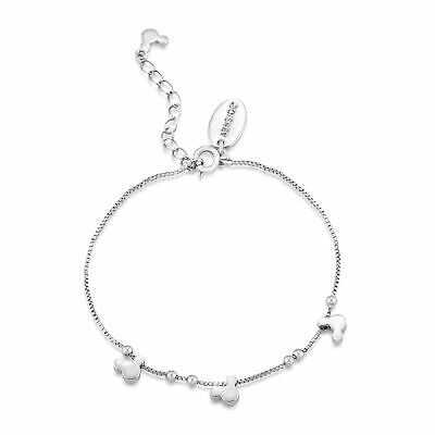 £25 • Buy Disney Couture Kingdom Minnie Mickey Mouse White Gold-Plated Bracelet