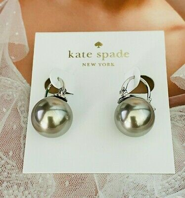 $ CDN20.04 • Buy Kate Spade Gray Classic Pearl Stud Earrings