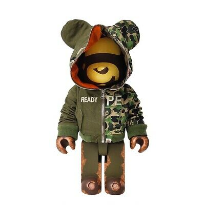 $2299 • Buy New Bearbrick 1000% Readymade X Army Green Medicom Be@rbrick Toy 2020