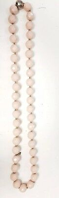 $ CDN38.05 • Buy Authentic Kate Spade Lady Marmalade Pearl Necklace Peach Light Pink Jewelry