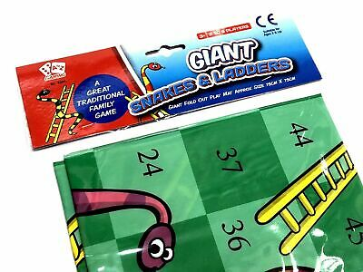 Giant Snakes & Ladders Playmat Living Room Outdoor Garden Game Family Fun  • 3.75£