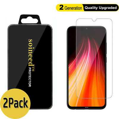 $6.49 • Buy 2-Pack Xiaomi Redmi Note 8 / Note 7 Pro / 8A / 7 Tempered Glass Screen Protector