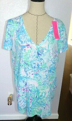 $65 • Buy LILLY PULITZER  Ladies Etta Top  CRAYSEA  Size EXTRA LARGE NWT