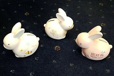 Bunny Rabbit Money Bank Piggy Bank Happy Easter • 13.50£