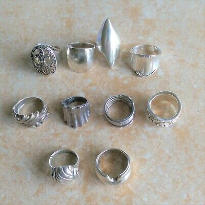 $ CDN212.93 • Buy  ~Chunky~ 925 Sterling Silver Rings Jewelry Lot
