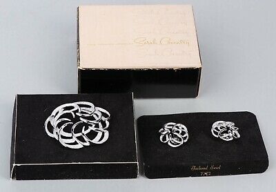 $12 • Buy Sarah Coventry Jewelry Set With Box (Earrings And Broach)