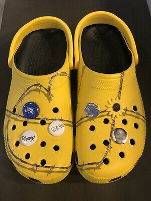 $39.99 • Buy 6 Post Malone Crocs Jibbitz, Always Tired, Bud Light Bottle Cap, Sunflower, RARE