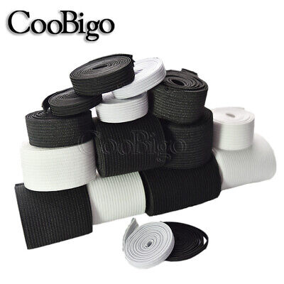 $ CDN4.51 • Buy White & Black Elastic Band Sewing Carft Length Width Multiple Choices DIY Sewing