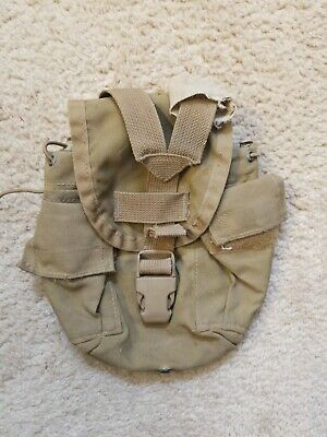 $ CDN8.23 • Buy US Military USMC 1QT MOLLE Coyote Brown Canteen Pouch USED (Broken)