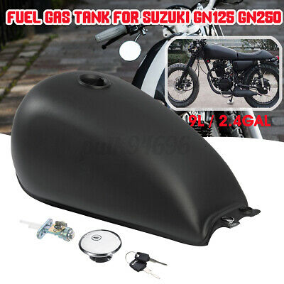 $146.29 • Buy Matte Steel Motorcycle Cafe Racer 9L / 2.4 Gallon Fuel Gas Tank For Suzuki GN125