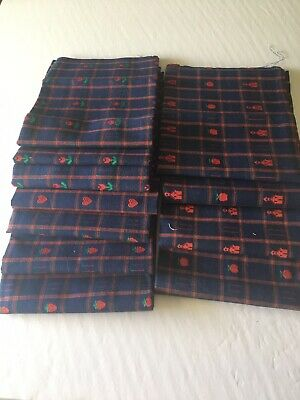 AU28.81 • Buy Fabric Fat Quarters  11 Navy Red 100% Cotton