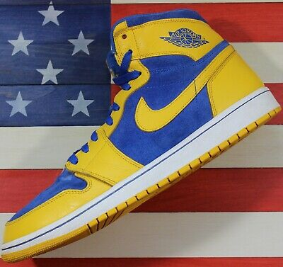 $151.10 • Buy Nike Air Jordan 1 High OG Laney Retro Maize Yellow Blue Shoe I[555088-707] Sz 13