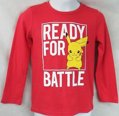 $10.39 • Buy Pokemon Boys T-Shirt New Red Pikachu Jumping Beans Officially Licensed