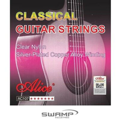AU5.69 • Buy Alice A107 Classical Guitar Strings - Nylon 28-43 Normal Tension Nylon Core