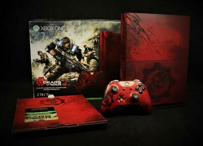 $349.95 • Buy Microsoft Xbox One S Gears Of War 4 Limited Edition Bundle 2TB Crimson Red