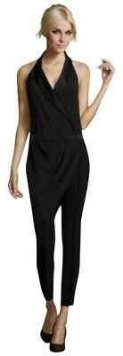 $69.95 • Buy Haute Hippie Black Tuxedo Crossover Halter Jumpsuit Size Small