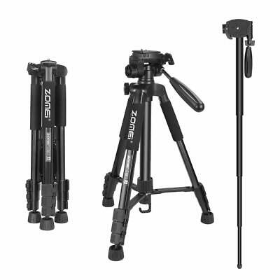 AU45.99 • Buy ZOMEI Camera Tripod Monopod 55''Compact Light Weight Travel Stand For DSLR DV