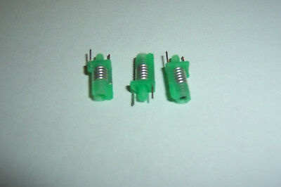 RF Coil Inductor Adjustable 0.14uH  5.5 Turns Toko Green NOS Qty. 3 • 3.45£
