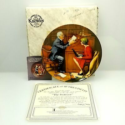 $ CDN16.01 • Buy Edwin M. Knowles China Company Norman Rockwell Collector Plate - The Professor