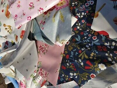 2kg Bag Of CLARKE AND CLARKE Cotton Oilcloth Offcuts And Remnants For Crafts • 9.99£