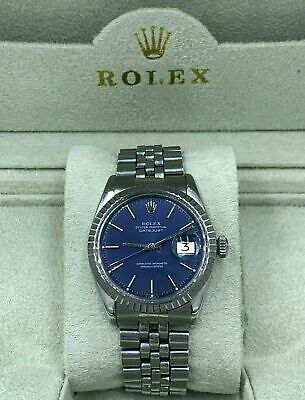 $ CDN6684.81 • Buy Rolex DateJust Vintage 1601 S/Steel Blue Dial,White Gold Bezel Automatic Men's
