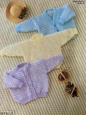 """£2.79 • Buy Easy Knit Baby Knitting Pattern For Cardigans And Sweater Easy Knit 16-22"""" E39"""